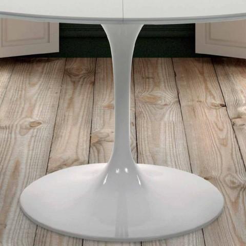 Runder Esstisch Ausziehbar Aus Laminiertem Holz Und Aluminium Made In Italy