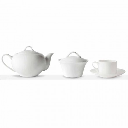 Stapelbare Teetassen Frühstücksservice 14 Stück in Porzellan - Romilda