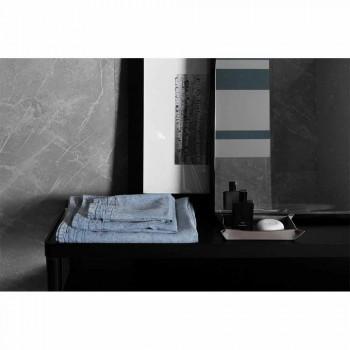 Hellblaues Badetuch aus schwerem Leinen Italienisches Luxus-Design - Jojoba