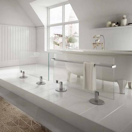 Design Floor Elektroheizkörper in transparentem Sternglas