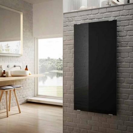 Modernes Design aus schwarzem Glas Elektroheizkörper Star, hergestellt in Italien