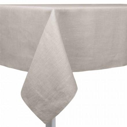 Tischdecke aus Leinen naturton, rechteckig oder quadratisch – Poppy