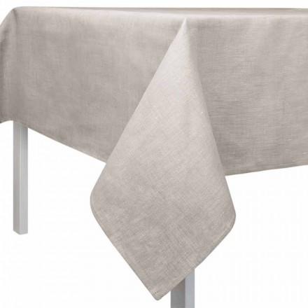 Quadratische oder Rechteckige Tischdecke aus Leinen naturton - Blessy