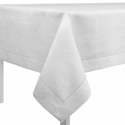 Rechteckige oder quadratische Tischdecke cremeweiß Made in Italy – Chiana
