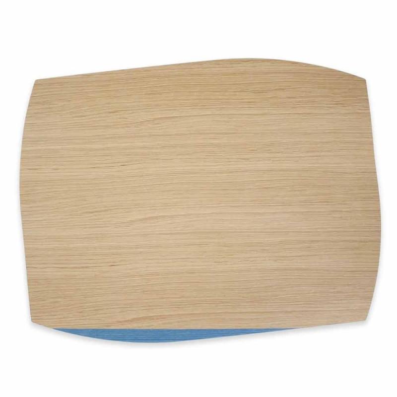Modernes rechteckiges Tischset aus Eichenholz Made in Italy - Abraham