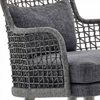 Moderner Outdoor-Sessel Varaschin Emma mit Kopfstütze aus Stoff