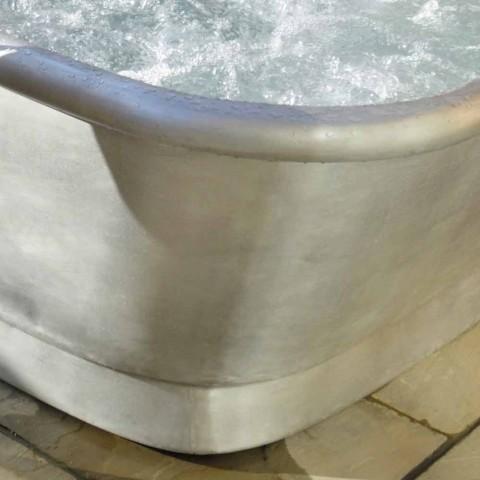 Badewanne Kupfer freistehend weiß Eisen Annie beschichtet