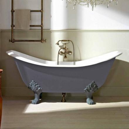 Vintage freistehende Badewanne mit Füßen, aus Gusseisen - Nadine