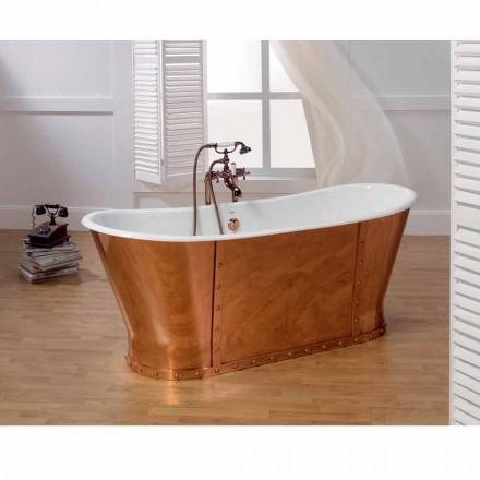 Freestanding Badewanne aus Kupfer in modernem Design Henry