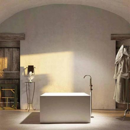 Design quadratische Badewanne freestanding Argentera, made in Italy