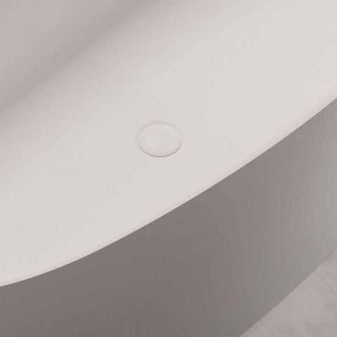 Freistehende Designwanne, Solid Surface Design - Look