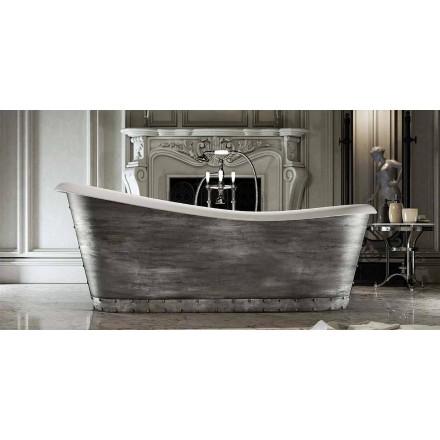 Freistehende Badewanne mit modernem Design aus Harz made in Italy, Furtei
