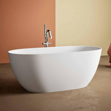 freistehende Badewanne made in Italy, aus Solid Surface - Flow