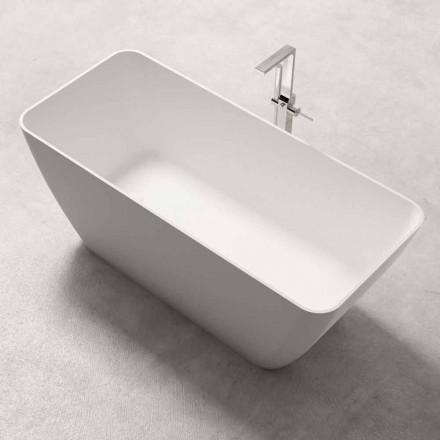 moderne freistehende Badewanne  weiss matt/ glänzend, - Face