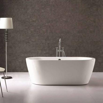 Nicole 1775x805 mm weiße freistehende Design-Badewanne aus Acryl