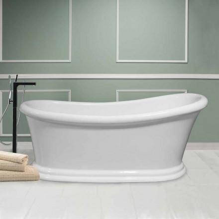 Moderne weiße freistehende Badewanne in Acryl Winter 1710x730 mm