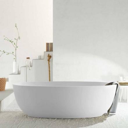 Moderne freistehende Badewanne in einer Ovalenform in Italien hergestellt, Frascati