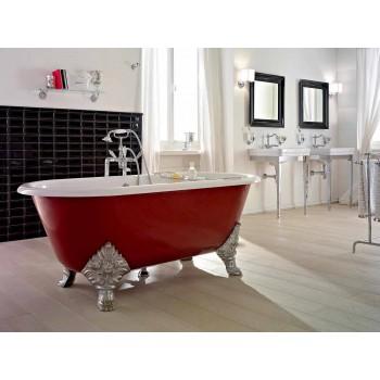 Vintage freistehende Badewanne mit gusseisernen Füßen, Made in Italy - Naike