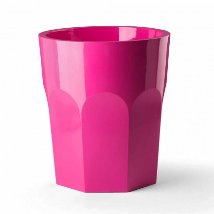 Hohe dekorative Vase mit Glasform aus Polyethylen Made in Italy - Pucca