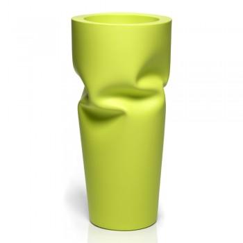 Außenvase aus matt gefärbtem Polyethylen Made in Italy - Proud