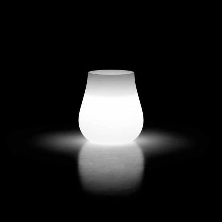 Außen Vase mit leuchtendem Design aus Polyethylen Made in Italy - Monita