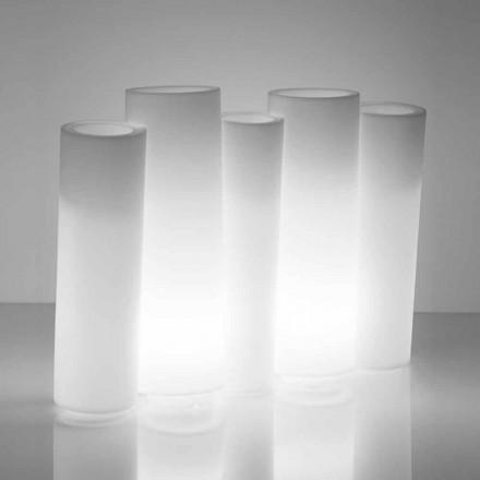 Helle dekorative Vase Slide Bamboo für den Außen- und Innenbereich, hergestellt in Italien