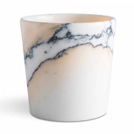 Abgerundete Vase aus Paonazzo-Marmor Hergestellt in Italien, 5 Stück - Murlino