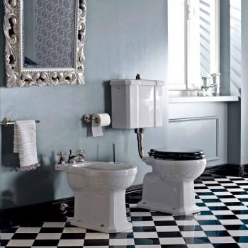 Boden-WC mit Keramikkassette und Made in Italy Black Seat - Marwa
