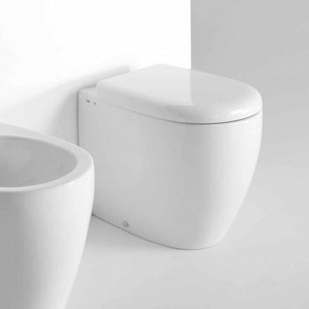 Toilettenbecken aus farbiger Keramik in modernem Design - Lauretta