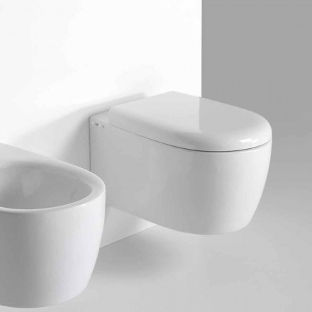 Hängendes WC aus farbiger Keramik in modernem Design Made in Italy - Lauretta