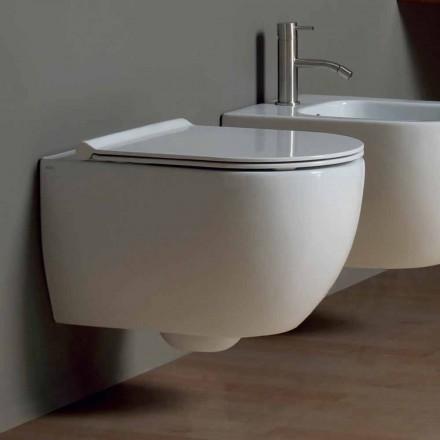 Moderne hängende Toilettenschüssel aus Keramik Design Star 50x35 Italy