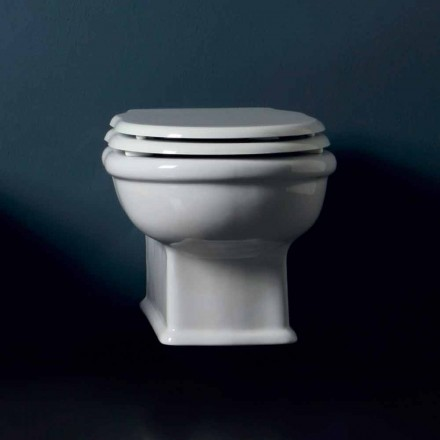 Hängende Toilettenschüssel aus weißer Keramik Design Style 54x36 Italy