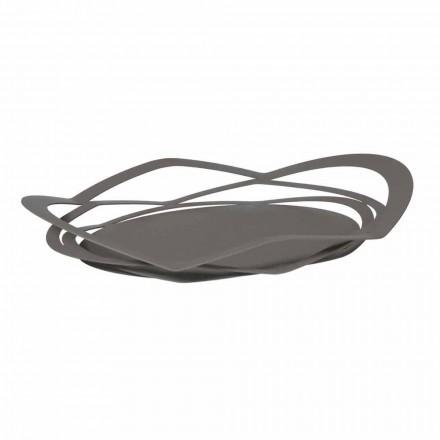 Modernes Design Tablett aus handgefertigtem Eisen, Made in Italy - Futti