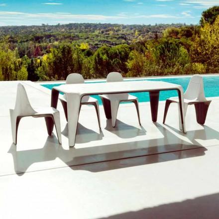 Vondom F3 modernes Tischchen für den Garten L190xP90cm aus Polyäthylen