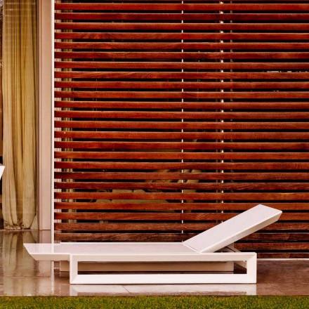 Vondom Frame Gartenliege aus weißem Polyäthylen von Design