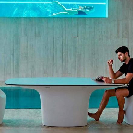 Vondom Ufo weißer Gartentisch von Design L200xP100cm