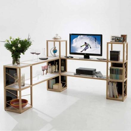 Bücherregal modular in modernem Design Zia Babele I Castelli 4